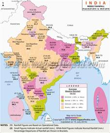 rainfall map current status india weekly rainfall report map in