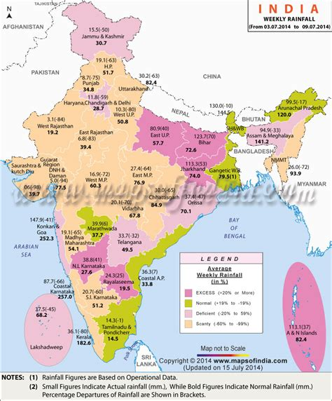 indian currents map current status india weekly rainfall report map in