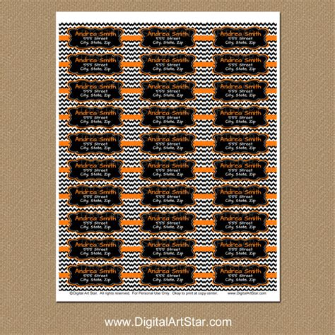 printable halloween address labels digital art star printable party decor september 2015
