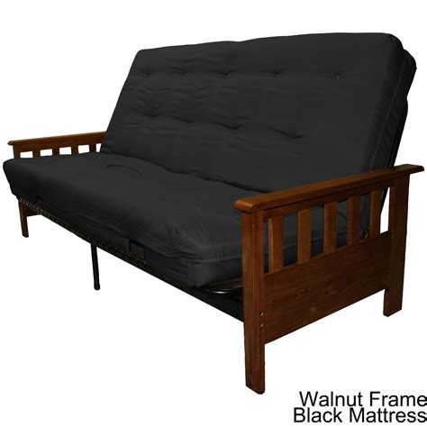 portland wood metal futon frame and futon mattress set