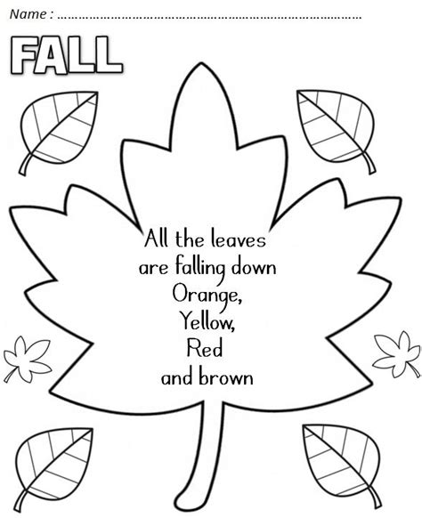 pattern poem kindergarten fall poems poems pinterest pocket charts coloring