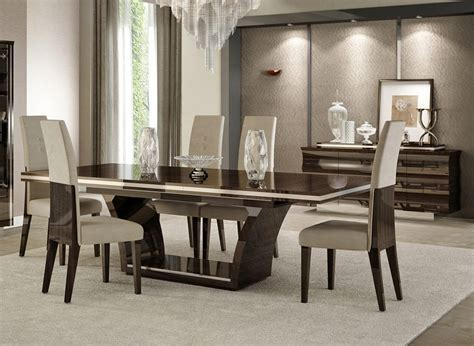 modern dining room chairs regarding make your dining room giorgio italian modern dining table set