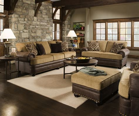 Living Room Store Traditional Beige Brown Living Room Sofa Set W Rolled