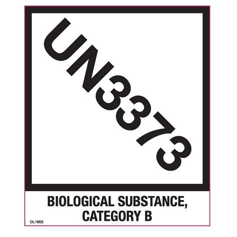 printable un3373 label 4 3 4 quot x 4 biological substance category b quot un3373 quot 500