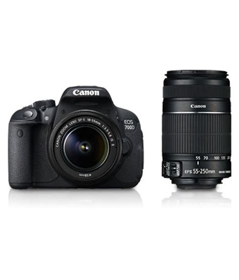 Canon 700d Lensa 18 55mm canon eos 700d with 18 55mm 55 250mm lens price in india