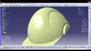 helmet design catia catia v5 tutorials part design surface based feature close