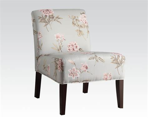 floral accent chair floral finish accent chair by acme furniture ac59306