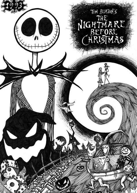 Nightmare Before Characters Coloring Pages The Nightmare Before Christmas Coloring Pages Coloring Home by Nightmare Before Characters Coloring Pages