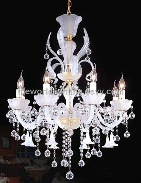 Aq0202 10 5 Best Sell Cheap White Candle Crystal Cheap White Chandelier