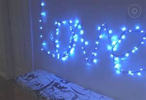 diy christmas lights that spell love simple to do tomfo