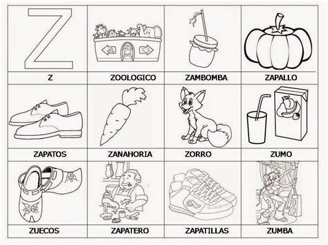 imagenes para colorear que empiecen con s palabras e im 225 genes con quot z quot material para maestros