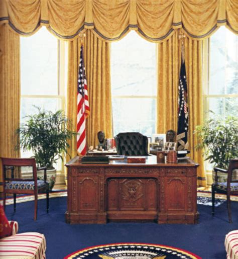 gold drapes oval office classic with a twist the oval office from year to year