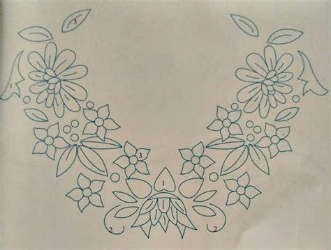 Sulam Longshort Untuk Pemula contoh motif sulamana benang pada taplak meja beserta
