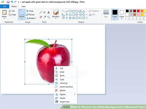 how to remove white background in paint how to remove the white background in microsoft paint