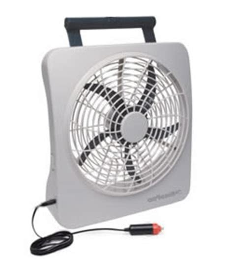 battery operated fan for car roadpro rp8000 10 12 volt or battery power portable fan