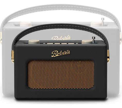 buy roberts revival uno retro portable clock radio black  delivery currys