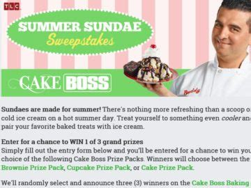 Cake Boss Sweepstakes - cake boss baking july august 2016 facebook sweepstakes