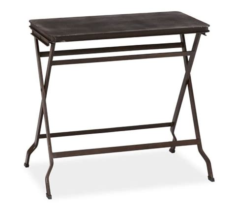 Metal Folding Table by Metal Folding Tray Table Pottery Barn