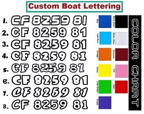 boat number decals boat registration numbers outline decals sticker pcw