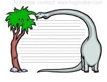 dinosaur writing paper to with the dinosaurs