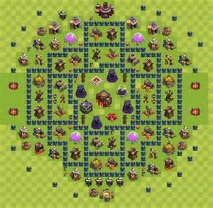 Layout De Defesa Clash Of Clans N 237 Vel Da Centro De Vila