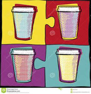 Cool Coffee Cups cups in pop art style coffee drinking cups vector