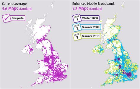 mobile 3 uk three displays mobile broadband coverage map for 2010