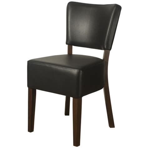 black leather side chair belmont black faux leather side chair