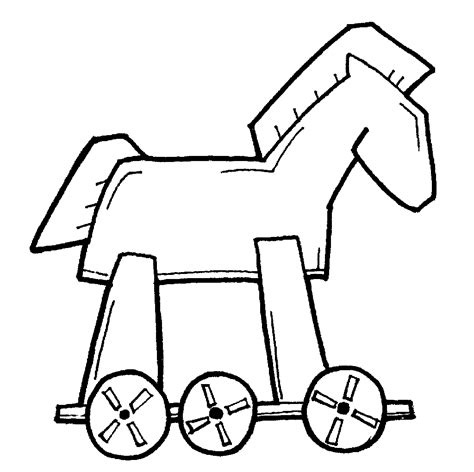 coloring page trojan horse home meld studios