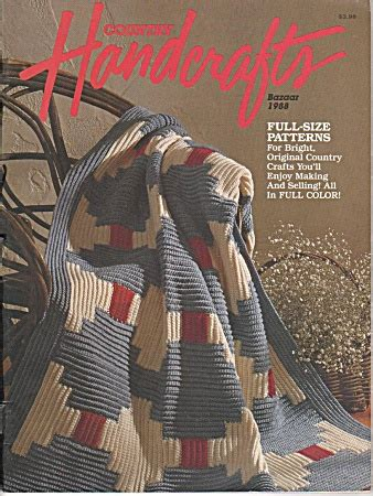 Country Handcrafts - country handcrafts bazaar 1988 afghans more knit