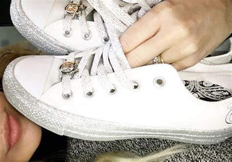 Harga Converse X Miley Cyrus miley cyrus converse glitter shoes sneakernews