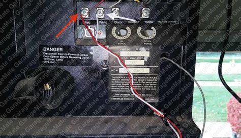 chamberlain garage door opener wiring diagram ewiring