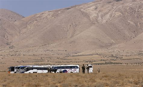 syrian desert who supplied and paid for stranded isis buses in syrian