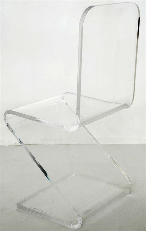 zig zag pattern chair lucite zig zag side chair at 1stdibs