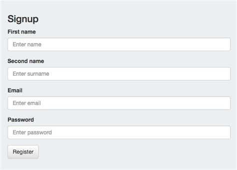 bootstrap form design layout bootstrap vertical horizontal and inline form exle