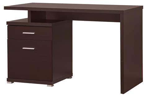 coaster contemporary desk with cabinet value city