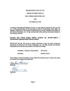 corporate resolution authorized signers template of the city and county of honolulu to the credit of such