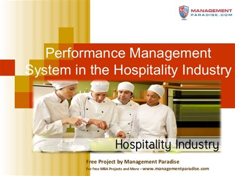 Mba In Hotel Industry by Ppt Study On Performance Management System In The