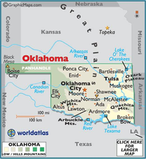 map usa oklahoma oklahoma attractions travel and vacation suggestions