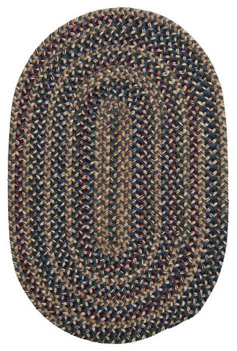 Wool Braided Area Rugs Braided Federal Blue Wool Rug 12 X15 Oval Twilight Tl50 Farmhouse Area Rugs
