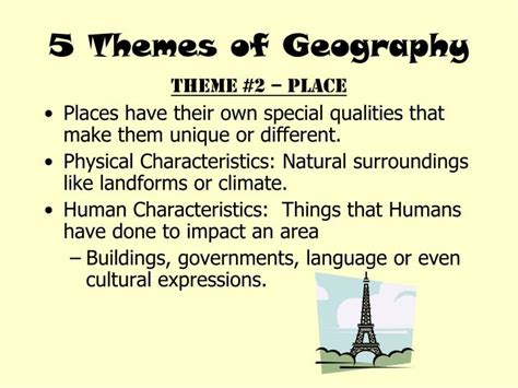 themes of geography powerpoint presentations ppt 5 themes of geography powerpoint presentation id