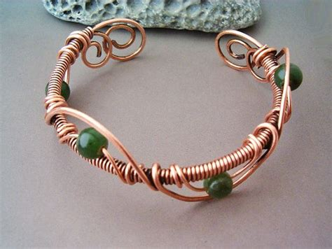 bracelet wire wrapped copper jewelry handmade bracelet