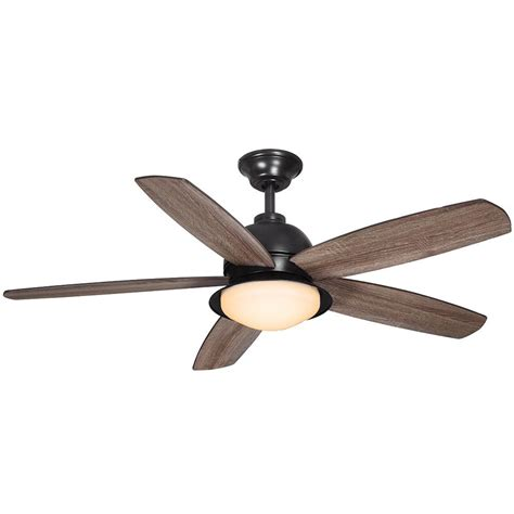 52 Outdoor Ceiling Fan With Light Home Decorators Collection Ackerly 52 In Led Indoor Outdoor Iron Ceiling Fan With Light