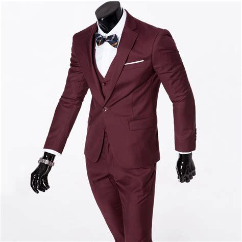 Tuxedo Set by Mens Stylish Formal Suit Set Groom Wedding Suit Slim Fit