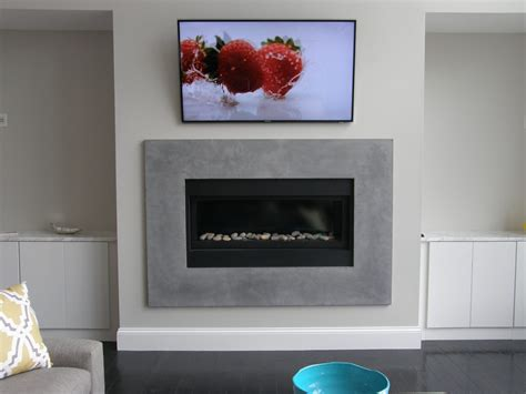 concrete gfrc fireplace surround   splash