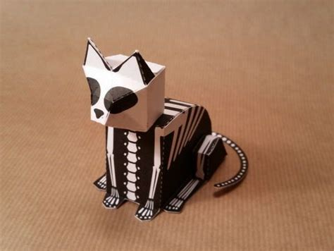Skeleton Papercraft - skeleton papercraftsquare free papercraft