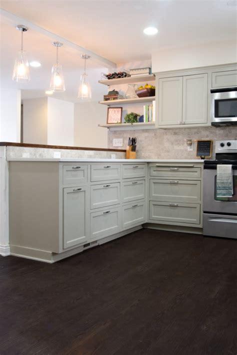 kitchen hardwood floors remodelaholic remodeled kitchen with refinished hardwood floors