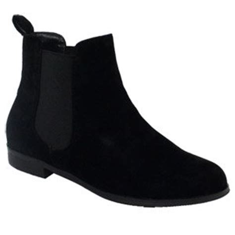 buy chelsea boot black suede womens in cheap price on