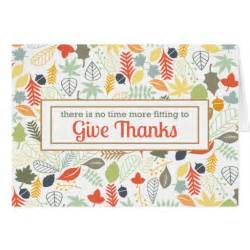 thank you cards for thanksgiving give thanks corporate thanksgiving thank you card zazzle