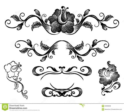 free doodle border vector doodle border and floral patterns stock vector image